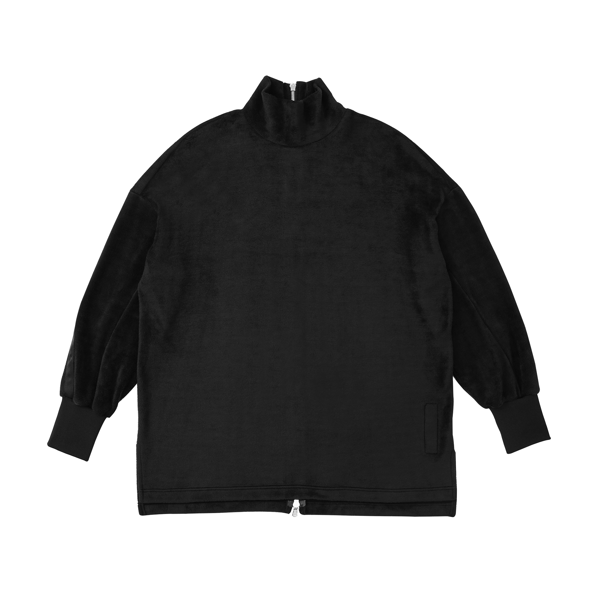 Back Zipped Turtleneck Long Sleeve