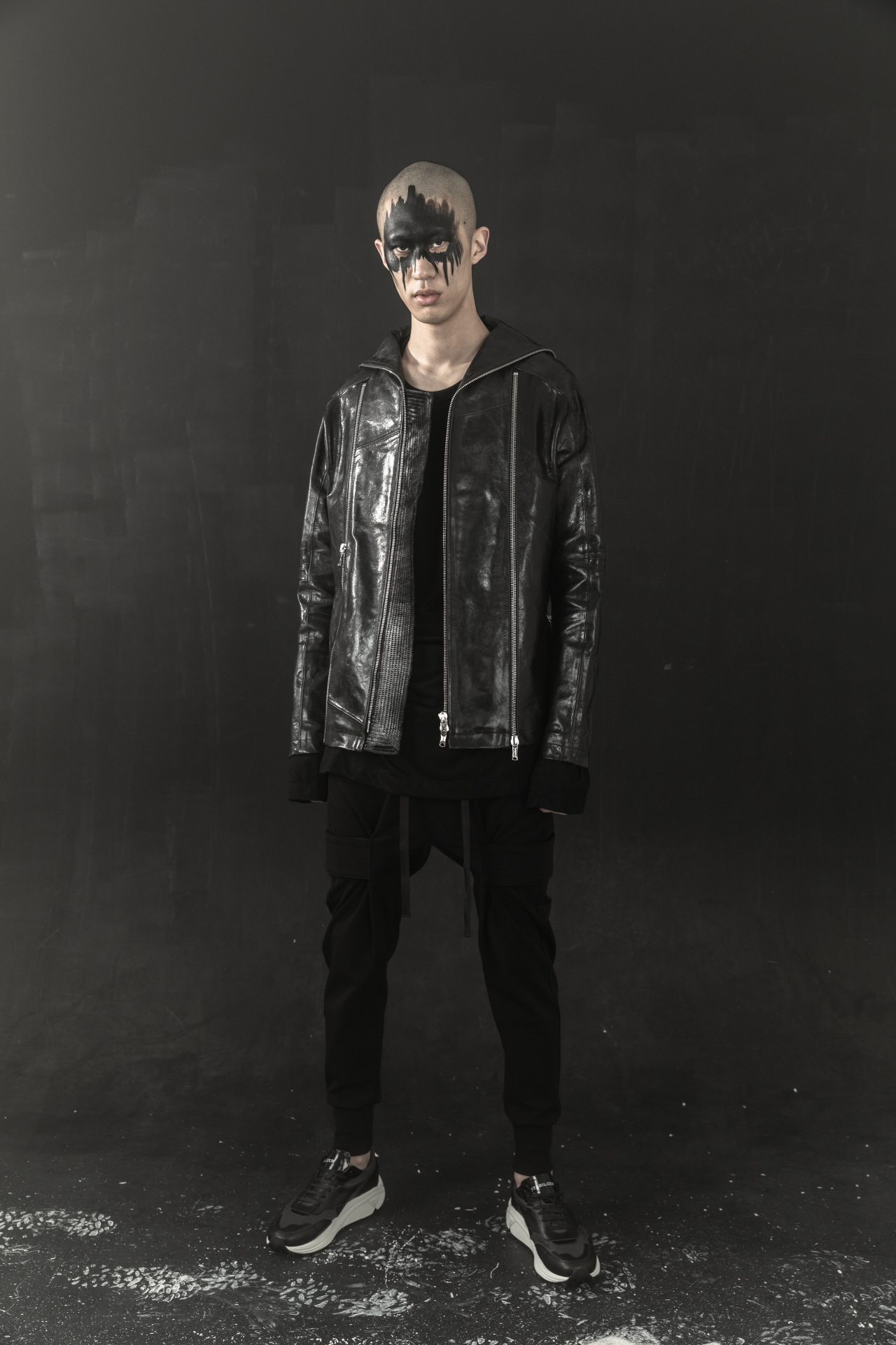 Vertical Leather Jacket