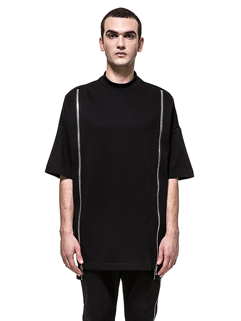 Oversized Double Zipper T-shirt