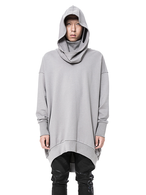 Gray Long Over Hoodie