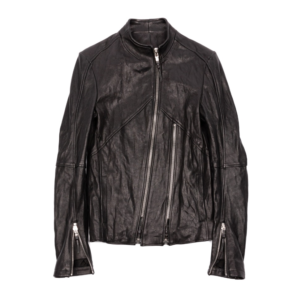 Oblique Leather Jacket