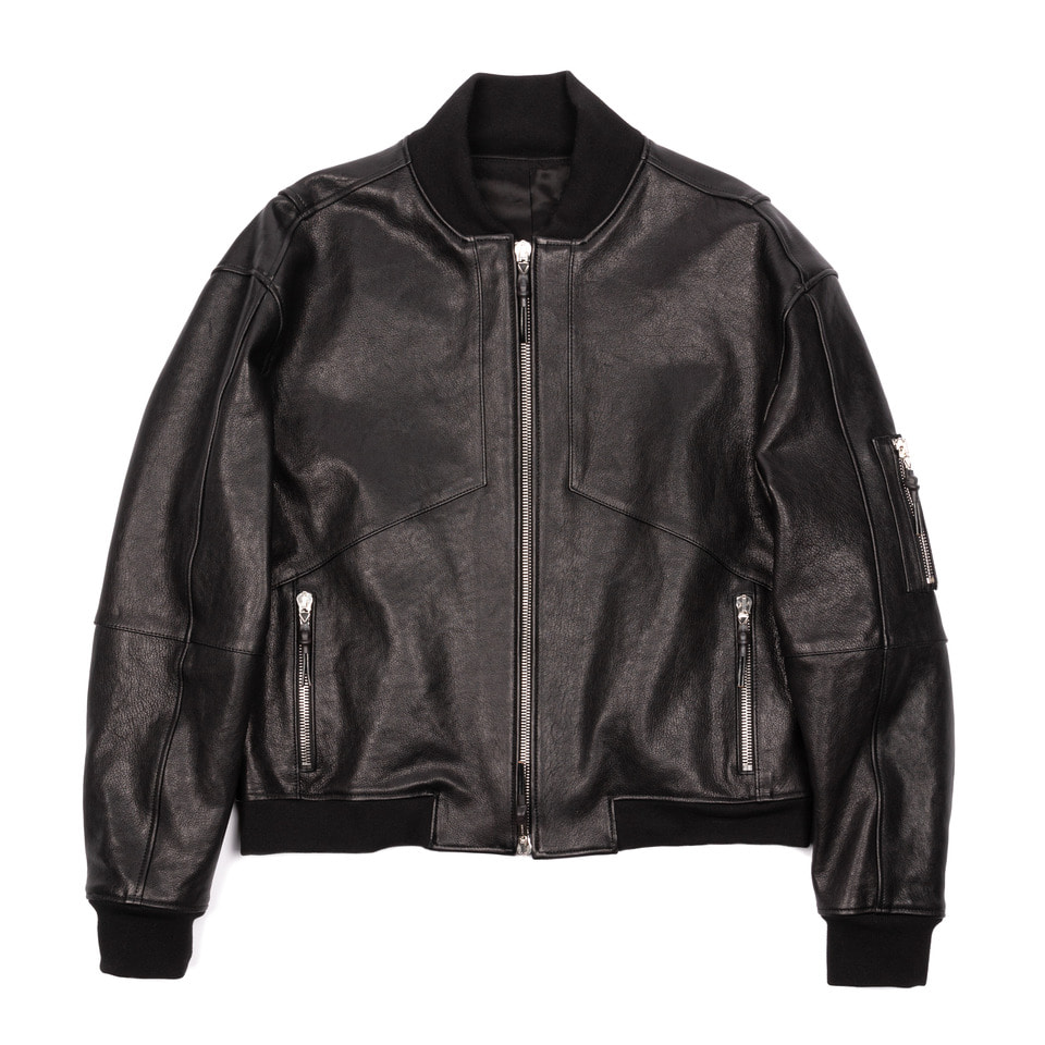 Leather Blouson Black